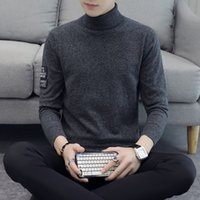 Winter Warm Turtleneck Sweaters New Fashion Men Casual Pullo...