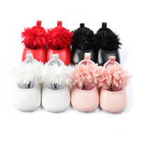 CX76 4 Color Newborn Baby Shoes Non- slip Soft Soled Baby Gir...