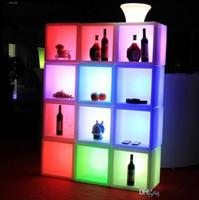Combinaison de lumière LED armoire à vin télécommande sept couleurs étanche charge activité décoration créative vitrine
