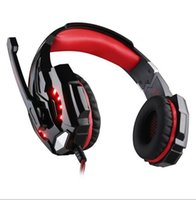Ogni G9000 Gaming Headset Headphone 3.5mm Stereo Jack con Mic LED Light per PS4 / Tablet / Laptop / Cell Phone libera la nave