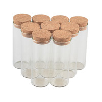 30 * 80mm 40ml verre flacons pots à essai tube avec bouchon de liège verre vide transparent bouteilles 50pcs / lot