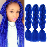 Kanekalon Pure Color Jumbo Braiding Hair braid 100g piece Sy...