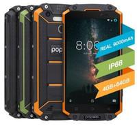 """POPTEL P9000 MAX 4기가바이트 64기가바이트 방수 스마트 폰 5.5 """"9000mAh MTK6750 옥타 코어 안드로이드 7.0 옥타 코어 1300 만 화소 NFC OTG 지문 핸드폰"""