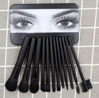 العلامة التجارية Be @ uty 12PCS مجموعة فرش وعينين من بودرة الرطب و Kylie - Brush Foundation blush Makeup Brushes High Tech DHL free