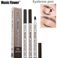 Newest Music Flower Liquid Eyebrow Pen Enhancer Four Head ey...