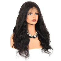 Brazilian Virgin Remy Hair Wigs Front Lace Wig Body Wave 1B#...