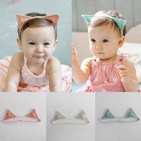 1 pc Baby Headband Gato Orelhas Bebê Menina Faixa Delicada Lace Crianças Cabelo Ornamentos Pano Headwear Hairband
