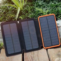 2018 New Solar Charger 10000mAh Solar Power Bank with 3 Sola...