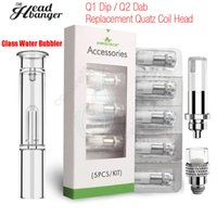 Original Airis Headbanger Qtip Glass Water Bubbler Airistech bobinas de repuesto cabeza Q1 DIP Q2 Dab Quatz Cell Herbal vaporizador Vape Atomizers