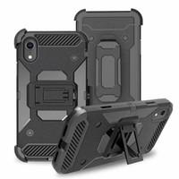 Cassa con clip Belt per LG Stylo 6 Q7 Plus Stylo 6 Stylo 5 Case per telefono Holster antiurto Antiurto Hybrid Hard PC + TPU Cover ARMATORE ARMOR IMPATTO