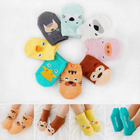 Cartoon Animal Pattern Baby Girl Boy Socks Newborn 3 Pairs C...