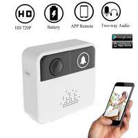 Smart Wireless Vidéo Sonnette HD 720P WiFi Vidéo Porte Caméra Porte Cloche Anneau D'alarme Carillon Porte Téléphone Interphone APP Contrôle