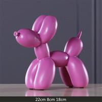 الراتنج مجردة بالون الكلب النحت تمثال الحرفية المنزل الجدول الديكور الهندسة الراتنج الحياة البرية الكلب تمثال الحرفية