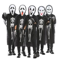 Halloween Skull Costume keleton Demon Ghost Cosplay Costumes...