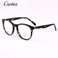 Vintage Glasses Women Glasses Frame Round Eyeglasses Frame O...