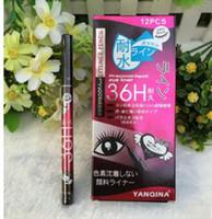 Yanqina 36 h ماكياج كحل قلم ماء أسود كحل القلم لا تتفتح الدقة السائل العين اينر مقابل كايلي