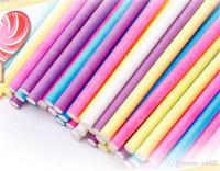 Colore Candy Bar protezione ambientale Solid Food Grade Stick di carta per torta Lecca-lecca pratico Facile Carry 4 8sk cc