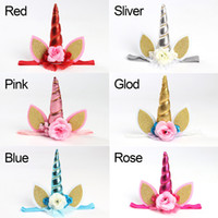 Fashion Girls Unicorn Headband Fashion Children Sequined Flo...