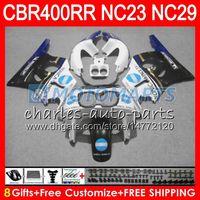 Kit para HONDA CBR400 RR NC23 CBR400RR 88 89 90 91 92 93 80HM18 CBR 400 RR NC29 KONICA azul CBR 400RR 1988 1989 1990 1991 1992 1993 Carenado