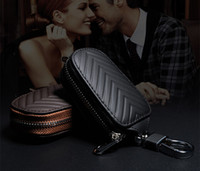 Genuine Cow Leather Men & Women Homehold Key Bag Car Key Bag...