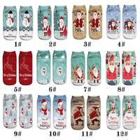 chriatmas 3D печать узор Санта Клаус серии мимики носки casual носки мальчики девочки дети Дед Мороз снеговик носки