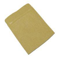 Resealable Zipper fechamento Papel Kraft Brown Folha de alumínio sacos de embalagem Pouch Snack Food Nuts Armazenamento Embalagem presentes do DIY Seal Pack Auto Bolsa