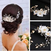 Elegante Brautblume Haarschmuck Mode Hairwear Hochzeit Haarschmuck Für Haare Frauen Mädchen Perlen Kopfschmuck