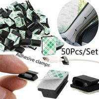 50Pcs Set Car Plastic Self- adhesive Holder Wire Tie Clamp Cl...