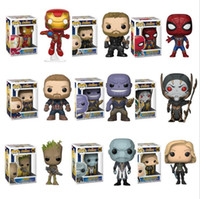FUNKO POP Action Figures The Avengers 3: Infinity War THANOS IRON SPIDER Super Hero PVC action figure modello per il regalo dei Bambini