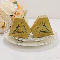 황금 초콜릿 사탕 상자 유니콘 삼각형 피라미드 웨딩 다이아몬드 모양 금박 선물 상자 작은 실용적인 조명 0 27bn cc