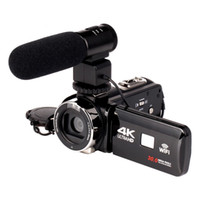 2020WIFI 4K Camcorder 16x Zoom 3.0 HD Pantalla táctil 24 mega píxeles con cámara de video digital infrarroja IR