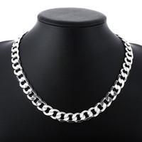 """Fine 925 sterling silver figaro catena collana 6mm 16 """"-24 pollici di alta qualità donne donne gioielli uomo xmas 2019 nuovo arrivo vendita calda popolare"""