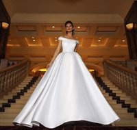 2019 Gorgeous Arabic Wedding Dresses Long Tran Off The Shoul...