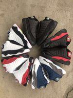 Sıcak Satmak Toddler 13 S Flint Bebek Küçük Çocuklar Basketbol Ayakkabıları 13 Bred Kara Kediler Bebek Spor Sneaker Erkek Ve Kız Çocuk Atletik Sneaker