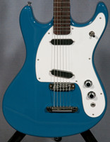 RARE 1966 Ventures Johnny Ramone Mos Mark II Blue Electric Guitar Guitar Tune-A-Matic e Stop Tailpiece 2 Singola bobina Pickups Bianco PickGuard