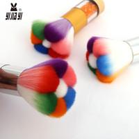 Maquillaje de la cara del cepillo colorido Uña de gato Formas Blush potencia de resaltado de fusión lindo cepillo cosméticos de belleza Maquillaje Herramientas