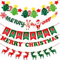 Frohe Weihnachten Party Banner Christmas Banner Flag Girlande Xmas Decor 2018 Christmas Party Decor Frohes neues Jahr 2019 Party