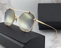 d3345fe3d837 2018 Gafas de sol para mujer   Hombre Diseñador de marca marrón con paquete  Envío gratuito