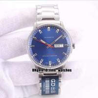 Nowy męski zegarek Dowódca Gent Niebieski Dial M021.431.11.041.00 Japonia Miyota 8215 Automatyczny zegarek 316 stalowa obudowa najwyższej jakości zegarki