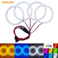 Feeldo Car Xenon cotone Angel Eyes Halo Light Ring DRL per BMW E46 Coupé 2D (04 +) / E46 Cabrio / Z3 faro # 2238