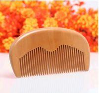 Personalizzati regalo Private Label personalizzato pettini laser inciso legno pettine Barba pettine dei capelli del pettine di legno Uomini governare commerciali