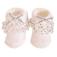 Bebek Kız Çorap Bebeklerde Ayak Bileği Çorap Sıcak 8-6 Ay için 8 CM Bebek Kız Prenses Bowknots Çorap