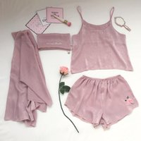 yomrzl A445 New arrival summer women' s pajama set 4 pie...