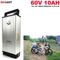 EU 미국 AU없이 세금 60V 10AH E-자전거 리튬 이온 배터리 60V 전기 자전거 750w 모터 15A BMS 내장 + 2A 충전기 무료 배송