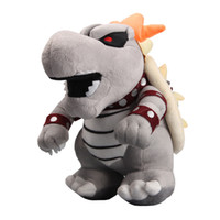 "New arrival 100% Cotton 10"" 25cm Gray King Bowser Koopa..."