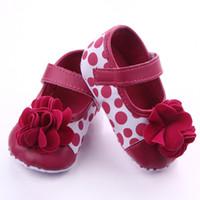 New Dot Flower 0-1 anni neonato appena nato neonati per primo camminatore per bambini Bebe Soft Sole Shoes Shoes