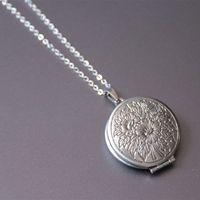 Новый нержавеющей стали ожерелье выгравированы цветок лотоса медальон подвески фото рамка ожерелья морской Мемориал ювелирные изделия подарок для женщин дети SN124