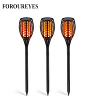 NEW LED Solar Flame Flickering Lawn Lamp Torch Lighting 96 L...