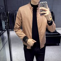 2018 spring new men' s Korean version of the collar base...