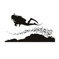 A Group Of Fish And Scuba Diving Wall Sticker Seafloor Home ...
